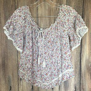 American Eagle Outfitters Flower Print Crop Top